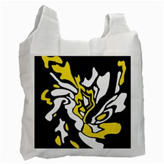 Yellow, black and white decor Recycle Bag (One Side)