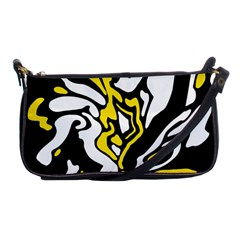 Yellow, black and white decor Shoulder Clutch Bags