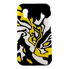 Yellow, black and white decor Samsung Galaxy Ace S5830 Hardshell Case
