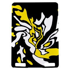 Yellow, black and white decor Kindle Touch 3G