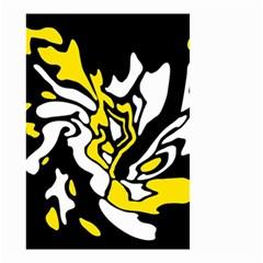 Yellow, black and white decor Small Garden Flag (Two Sides)