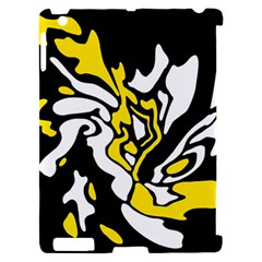 Yellow, black and white decor Apple iPad 2 Hardshell Case (Compatible with Smart Cover)