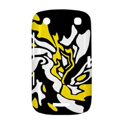 Yellow, black and white decor BlackBerry Curve 9380