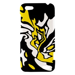 Yellow, black and white decor HTC One V Hardshell Case