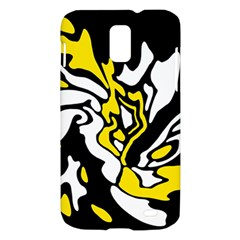 Yellow, black and white decor Samsung Galaxy S II Skyrocket Hardshell Case