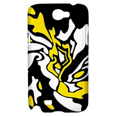 Yellow, black and white decor Samsung Galaxy Note 2 Hardshell Case