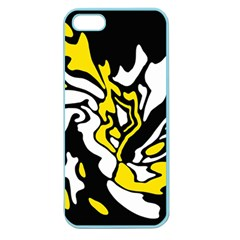 Yellow, black and white decor Apple Seamless iPhone 5 Case (Color)
