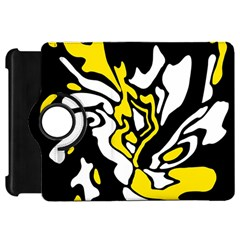 Yellow, black and white decor Kindle Fire HD Flip 360 Case
