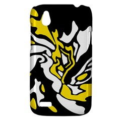 Yellow, black and white decor HTC Desire V (T328W) Hardshell Case