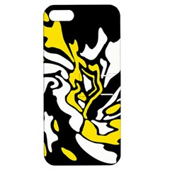 Yellow, black and white decor Apple iPhone 5 Hardshell Case with Stand