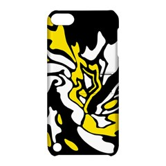 Yellow, black and white decor Apple iPod Touch 5 Hardshell Case with Stand
