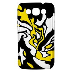 Yellow, black and white decor Samsung Galaxy Win I8550 Hardshell Case