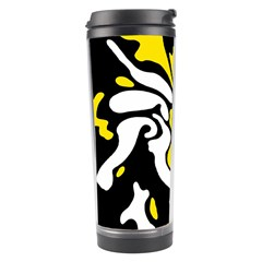 Yellow, black and white decor Travel Tumbler