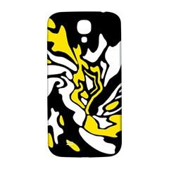 Yellow, black and white decor Samsung Galaxy S4 I9500/I9505  Hardshell Back Case