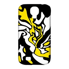 Yellow, black and white decor Samsung Galaxy S4 Classic Hardshell Case (PC+Silicone)