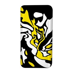 Yellow, black and white decor HTC Butterfly S/HTC 9060 Hardshell Case