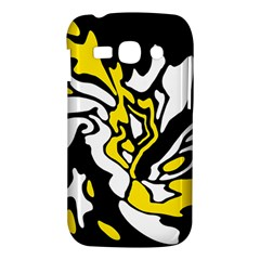 Yellow, black and white decor Samsung Galaxy Ace 3 S7272 Hardshell Case