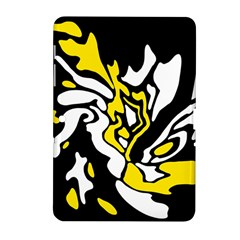 Yellow, black and white decor Samsung Galaxy Tab 2 (10.1 ) P5100 Hardshell Case
