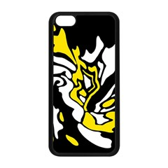 Yellow, black and white decor Apple iPhone 5C Seamless Case (Black)