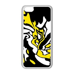 Yellow, black and white decor Apple iPhone 5C Seamless Case (White)