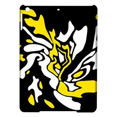 Yellow, black and white decor iPad Air Hardshell Cases
