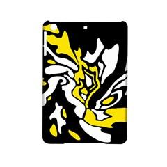 Yellow, black and white decor iPad Mini 2 Hardshell Cases