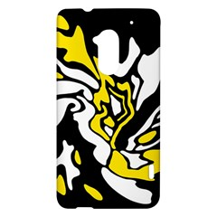 Yellow, black and white decor HTC One Max (T6) Hardshell Case