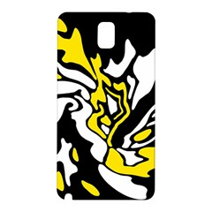 Yellow, black and white decor Samsung Galaxy Note 3 N9005 Hardshell Back Case