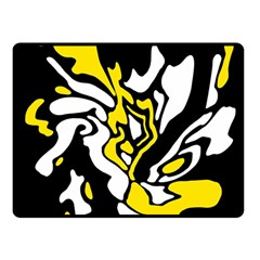 Yellow, black and white decor Double Sided Fleece Blanket (Small)