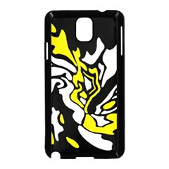 Yellow, black and white decor Samsung Galaxy Note 3 Neo Hardshell Case (Black)