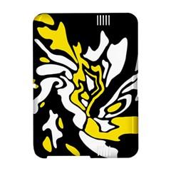 Yellow, black and white decor Amazon Kindle Fire (2012) Hardshell Case