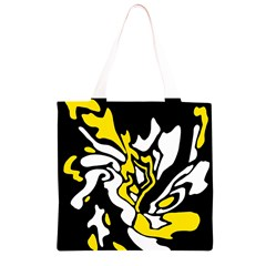 Yellow, black and white decor Grocery Light Tote Bag