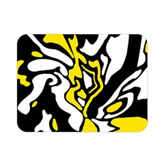 Yellow, Black And White Decor Double Sided Flano Blanket (mini)