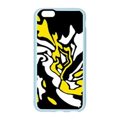 Yellow, black and white decor Apple Seamless iPhone 6/6S Case (Color)