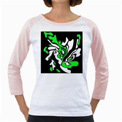 Green, white and black decor Girly Raglans