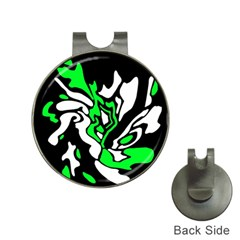 Green, white and black decor Hat Clips with Golf Markers