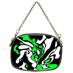 Green, white and black decor Chain Purses (Two Sides)