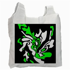 Green, white and black decor Recycle Bag (Two Side)