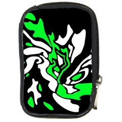 Green, white and black decor Compact Camera Cases