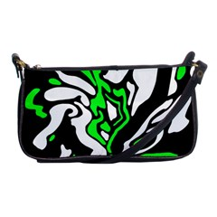 Green, white and black decor Shoulder Clutch Bags