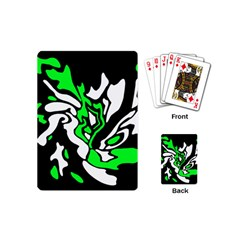 Green, white and black decor Playing Cards (Mini)