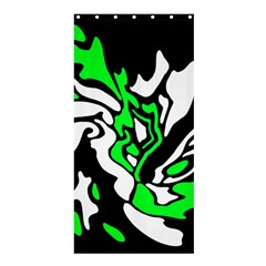 Green, white and black decor Shower Curtain 36  x 72  (Stall)