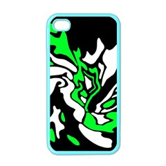 Green, white and black decor Apple iPhone 4 Case (Color)