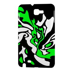 Green, white and black decor Samsung Galaxy Note 1 Hardshell Case
