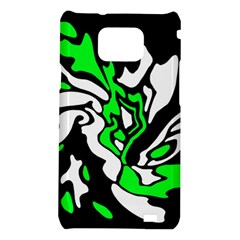 Green, white and black decor Samsung Galaxy S2 i9100 Hardshell Case
