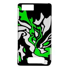 Green, white and black decor Motorola DROID X2