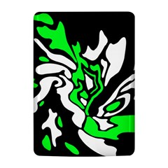 Green, white and black decor Kindle 4