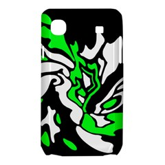 Green, white and black decor Samsung Galaxy SL i9003 Hardshell Case