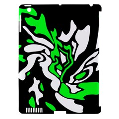Green, white and black decor Apple iPad 3/4 Hardshell Case (Compatible with Smart Cover)