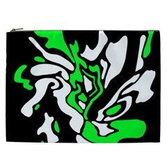 Green, white and black decor Cosmetic Bag (XXL)